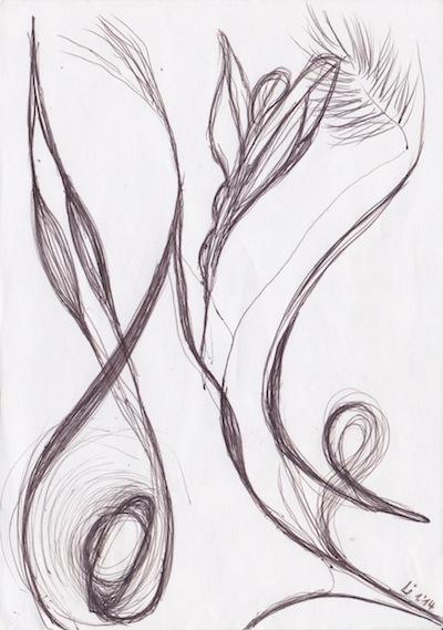 Malen mit Kugelschreiber
